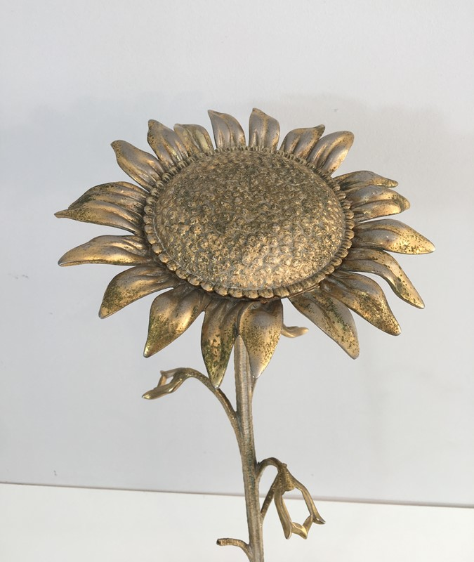 Bronze element Representing a Sunflower-barrois-antiques-50's-30047-main-636764185364275273.JPG