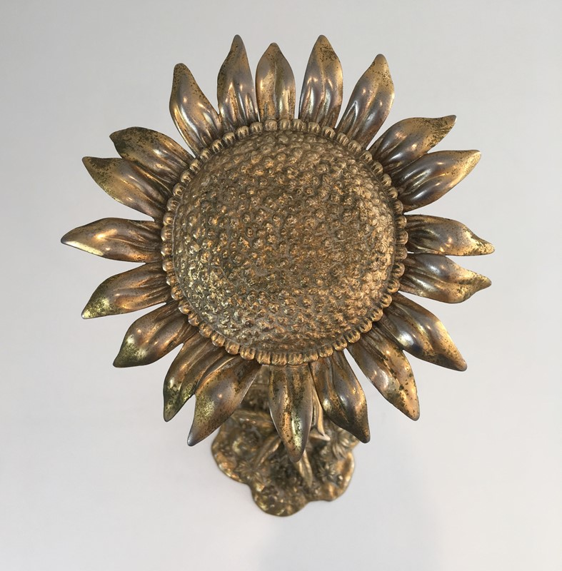 Bronze element Representing a Sunflower-barrois-antiques-50's-30049-main-636764185678913045.JPG