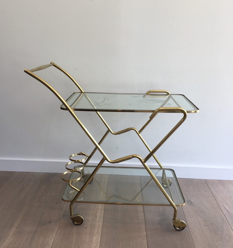 Brass and Engraved Glass Drinks Trolley-barrois-antiques-50's-30073-main-636779744715708873.JPG