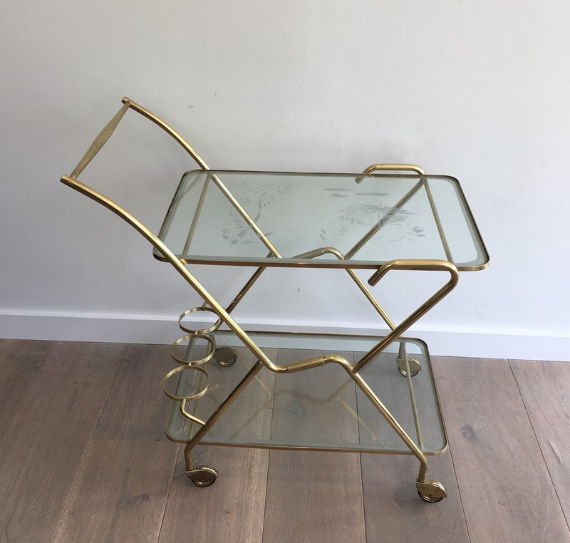 Brass and Engraved Glass Drinks Trolley-barrois-antiques-50's-30092-main-636779745188631359.JPG