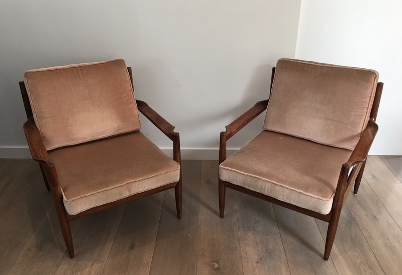 Pair of Scandinavian Armchairs. Marked.-barrois-antiques-50's-30184-main-636772638757210743.JPG