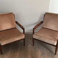 Pair of Scandinavian Armchairs. Marked.