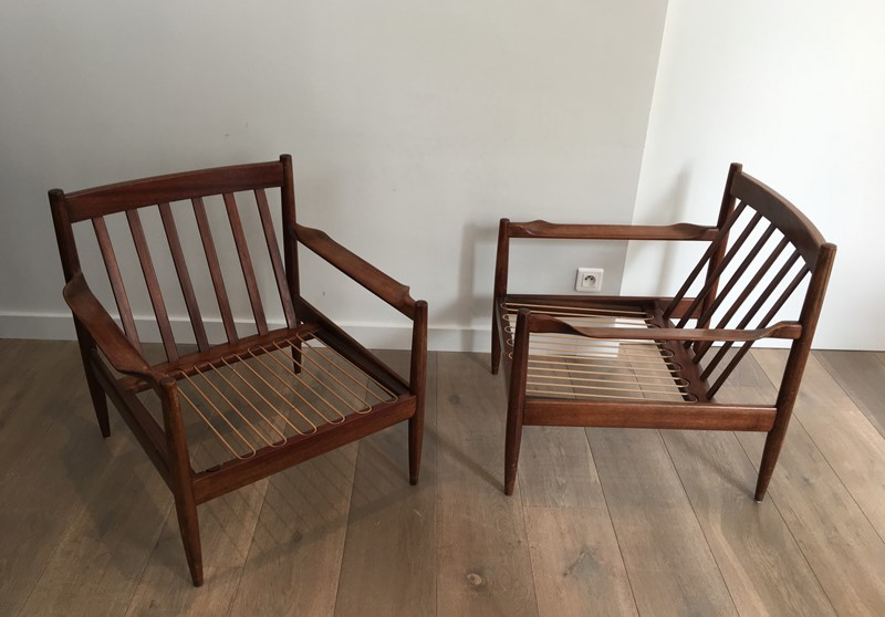 Pair of Scandinavian Armchairs. Marked.-barrois-antiques-50's-30188-main-636772638898686943.JPG