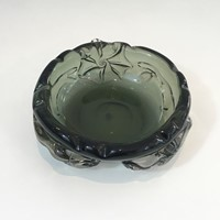 Unusual Large Cristal Ashtray with Squales.