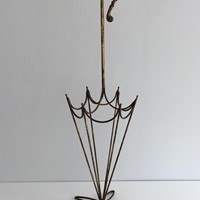 Gold gilt Iron Umbrella Stand.