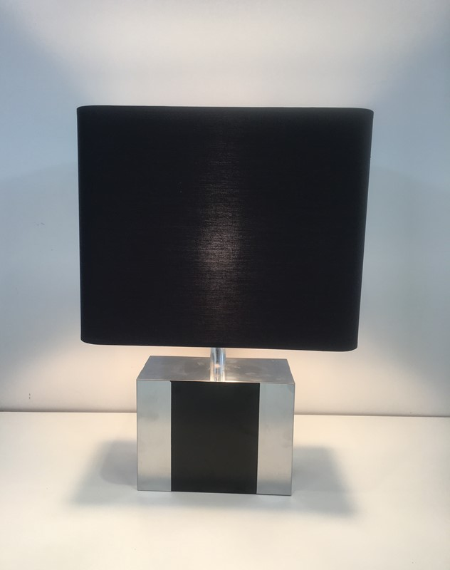 Chrome and Black Lacquered Table Lamp. Circa 1950-barrois-antiques-50's-30334-main-636783920292473568.JPG