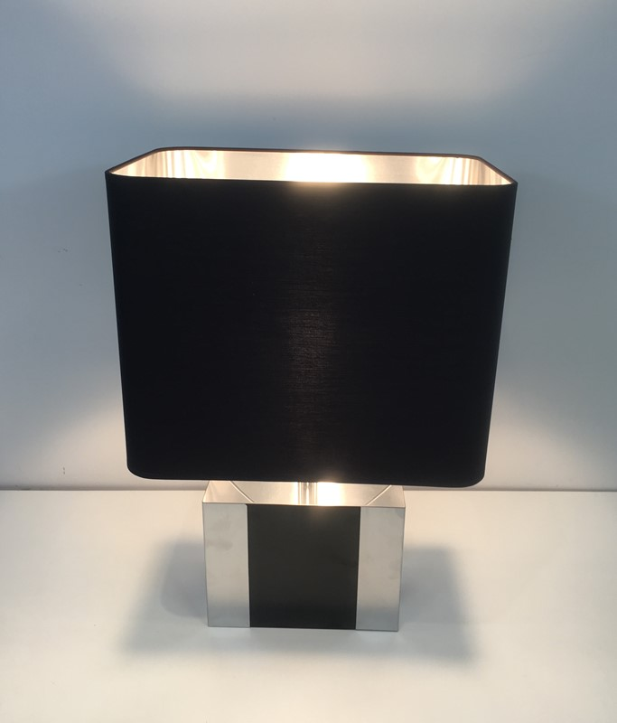 Chrome and Black Lacquered Table Lamp. Circa 1950-barrois-antiques-50's-30344-main-636783921264090304.JPG