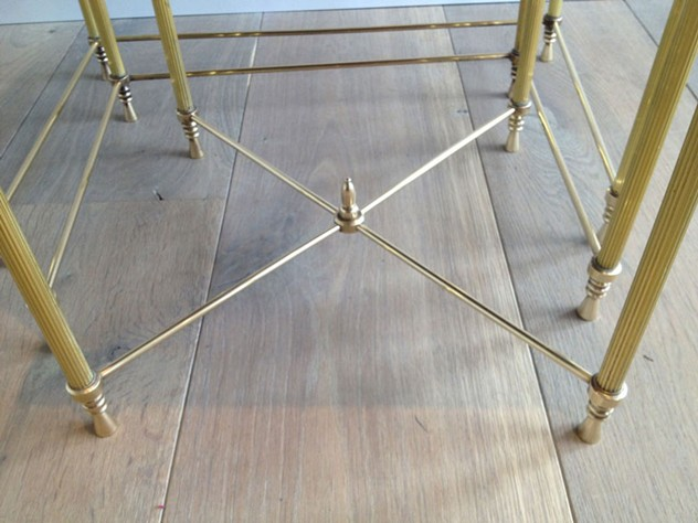 Set Of Three Brass Nesting tables with Mirror Tops-barrois-antiques-50's-3455_main_636341047560783351.jpg