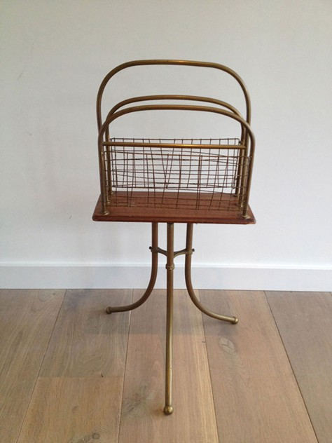 Brass and Wood Magazine Rack-barrois-antiques-50's-3461_main_636461856911295790.jpg