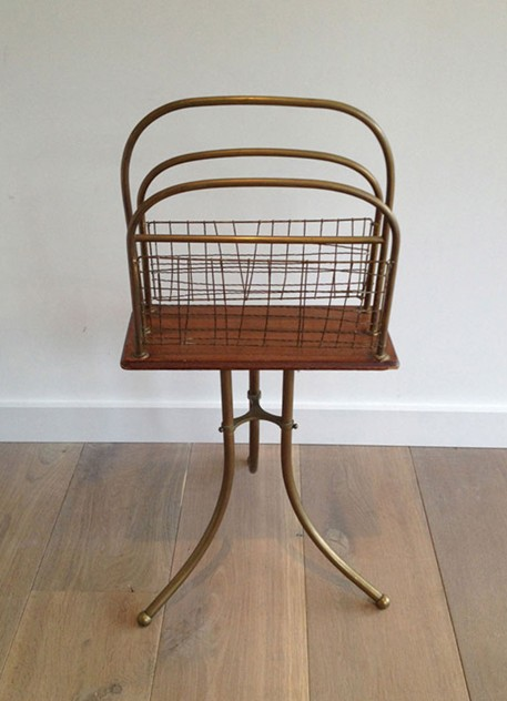 Brass and Wood Magazine Rack-barrois-antiques-50's-3462_main_636461857160128550.jpg
