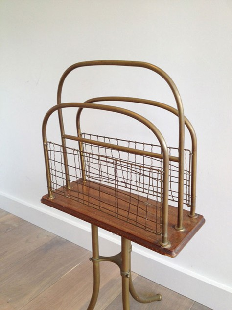 Brass and Wood Magazine Rack-barrois-antiques-50's-3463_main_636461857205838894.jpg
