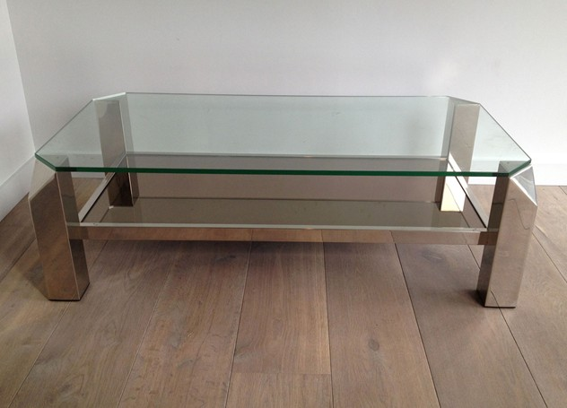 Chrome coffee table. Circa 1970-barrois-antiques-50's-3590_main_636278603097528164.jpg