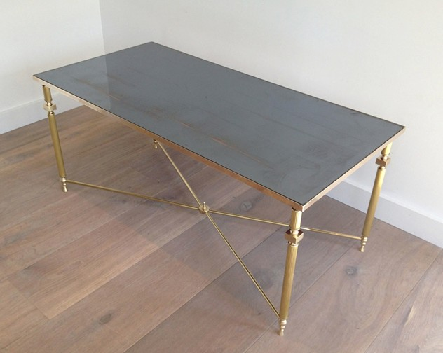 Brass Coffee Table with Original Blueish Mirror-barrois-antiques-50's-5424_main_636341057948105955.jpg