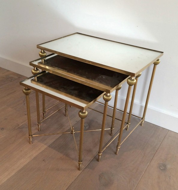 Brass Nesting Tables Set with Mirror Tops-barrois-antiques-50's-8860_main_636414262660155995.jpg