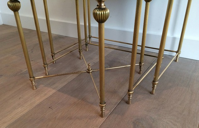 Brass Nesting Tables Set with Mirror Tops-barrois-antiques-50's-8864_main_636414262477002603.jpg