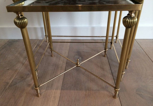 Brass Nesting Tables Set with Mirror Tops-barrois-antiques-50's-8865_main_636414262540809875.jpg