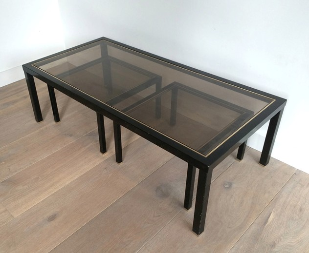Black lacquered and brass coffee table with nest.-barrois-antiques-50's-8915_main_636296568554592888.jpg