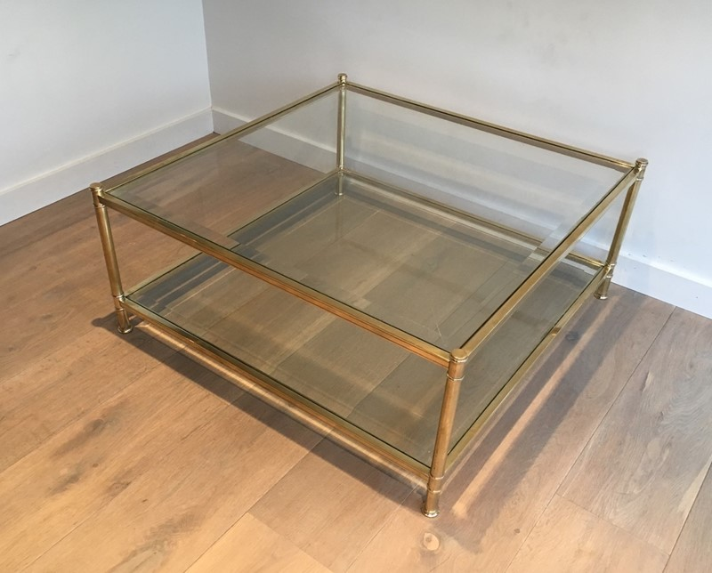Square Brass Coffee Table. French. Circa 1970-barrois-antiques-50s-22891-main-637285156276314640.jpg