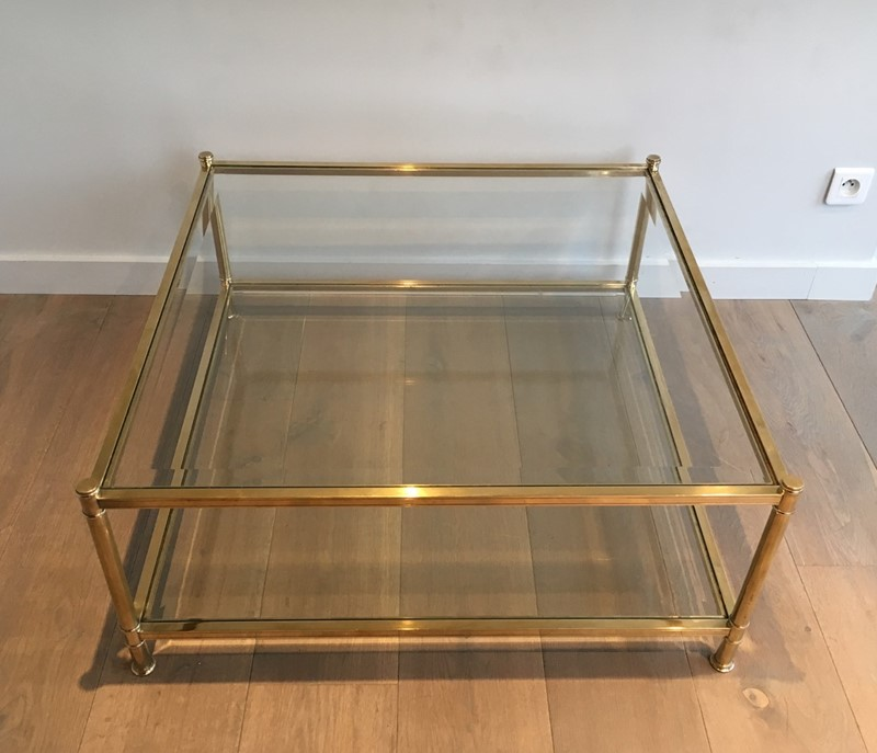 Square Brass Coffee Table. French. Circa 1970-barrois-antiques-50s-22892-main-637285156623030767.jpg