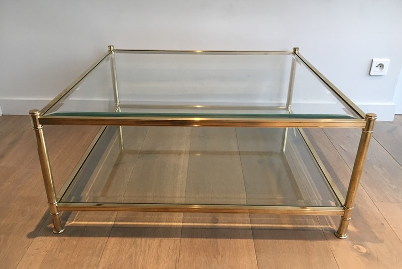 Square Brass Coffee Table. French. Circa 1970-barrois-antiques-50s-22893-main-637285156628499481.jpg