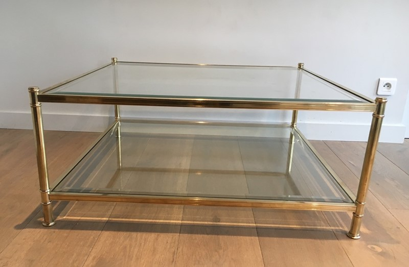 Square Brass Coffee Table. French. Circa 1970-barrois-antiques-50s-22894-main-637285156634124919.jpg