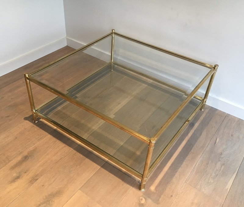 Square Brass Coffee Table. French. Circa 1970-barrois-antiques-50s-22899-main-637285156663032991.jpg