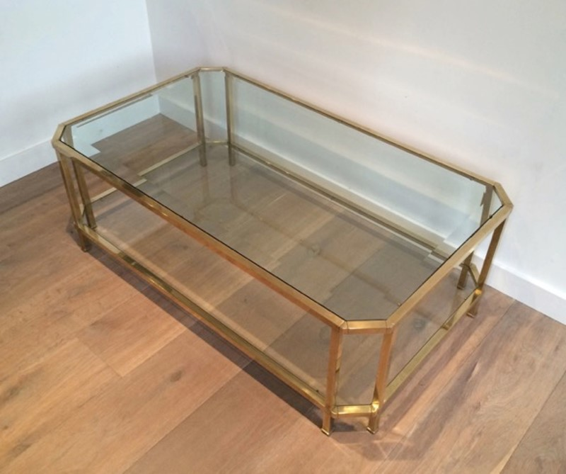 Octogonal Brass Coffee Table. French. Circa 1970-barrois-antiques-50s-24322-main-637042289567241959.JPG