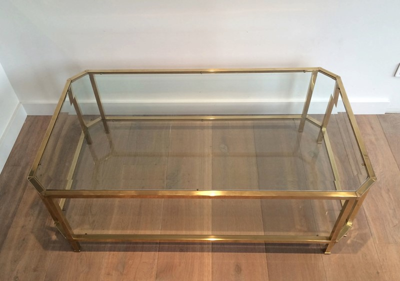 Octogonal Brass Coffee Table. French. Circa 1970-barrois-antiques-50s-24323-main-637042289749644629.JPG