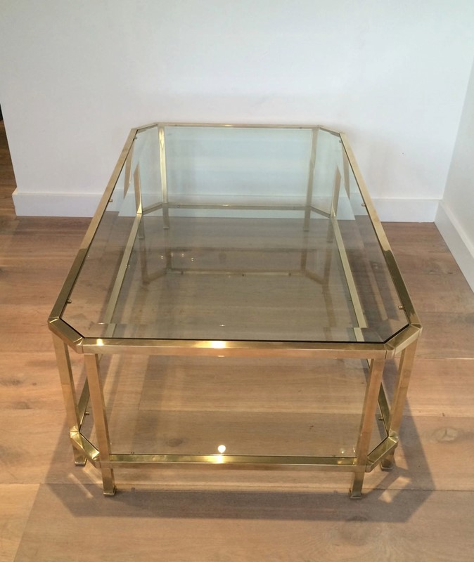 Octogonal Brass Coffee Table. French. Circa 1970-barrois-antiques-50s-24324-main-637042289869224931.JPG