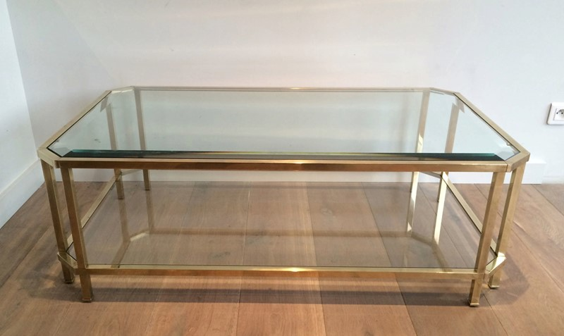 Octogonal Brass Coffee Table. French. Circa 1970-barrois-antiques-50s-24325-main-637042289983754567.JPG