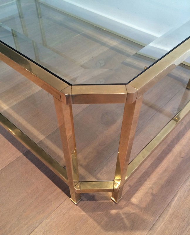 Octogonal Brass Coffee Table. French. Circa 1970-barrois-antiques-50s-24326-main-637042290082816525.JPG