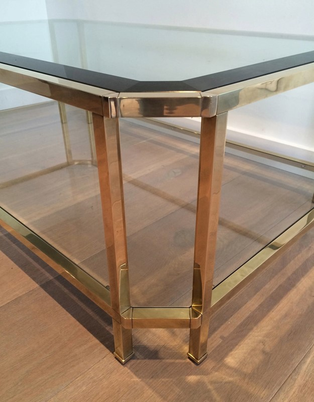 Octogonal Brass Coffee Table. French. Circa 1970-barrois-antiques-50s-24328-main-637042290391722997.JPG