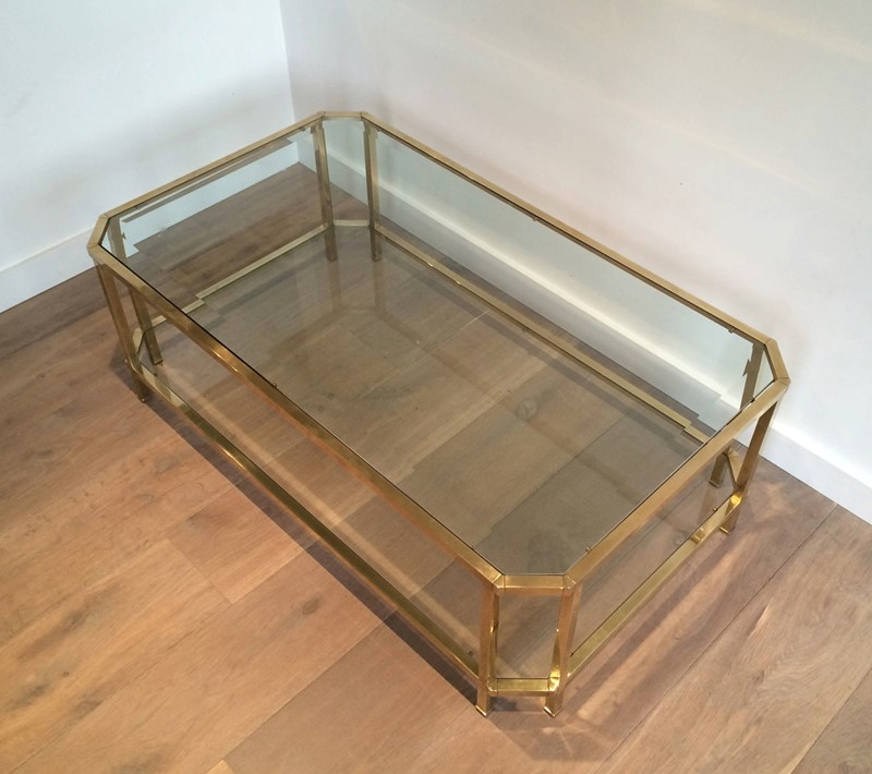 Octogonal Brass Coffee Table. French. Circa 1970-barrois-antiques-50s-24331-main-637042290687510066.JPG