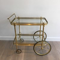Neoclassical Brass Drinks Trolley.