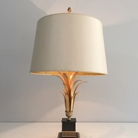 Lacquered and Gilt Metal Pineapple Table Lamp