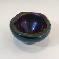 Iridescent Glass Pintray or Ashtray.