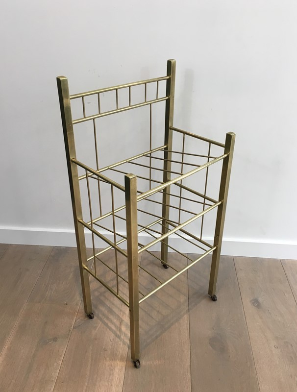 Brass Magazine Rack(Brass is damaged on a foot). -barrois-antiques-50s-30960-main-636801334245532832.jpg