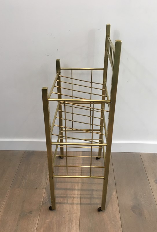 Brass Magazine Rack(Brass is damaged on a foot). -barrois-antiques-50s-30962-main-636801334633196159.jpg