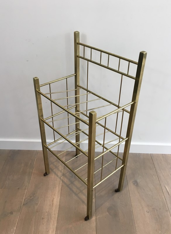Brass Magazine Rack(Brass is damaged on a foot). -barrois-antiques-50s-30963-main-636801334654757771.jpg