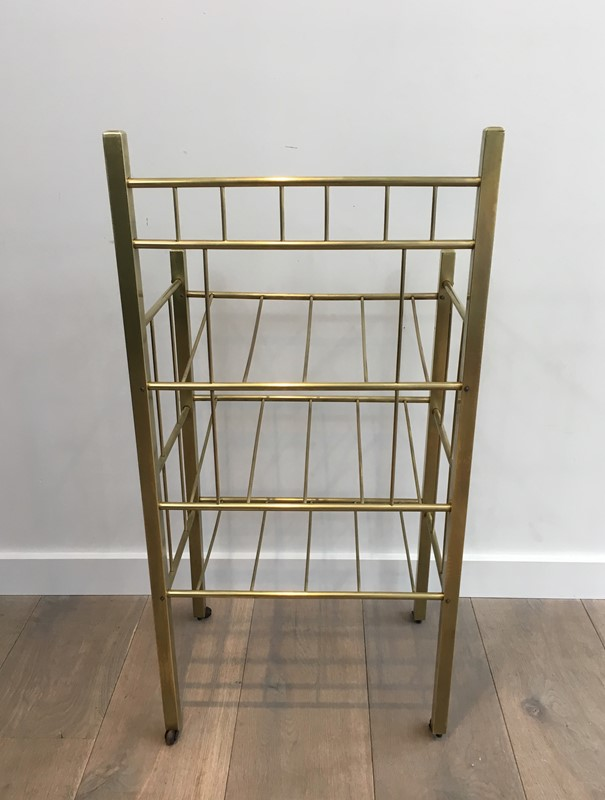 Brass Magazine Rack(Brass is damaged on a foot). -barrois-antiques-50s-30965-main-636801335398996989.jpg