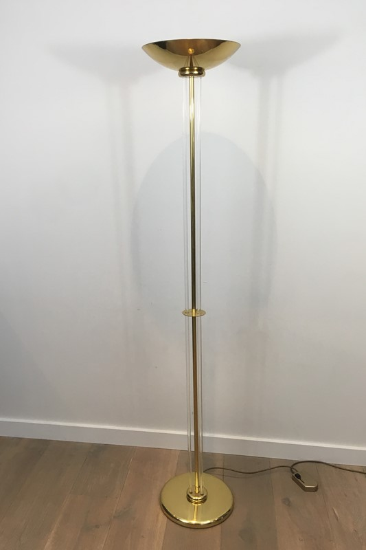 Acrylic and gilt brass Floor Lamp-barrois-antiques-50s-31081-main-636807359631016876.JPG