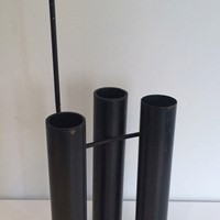 Design Black Lacquered Umbrella Stand. Circa 1970