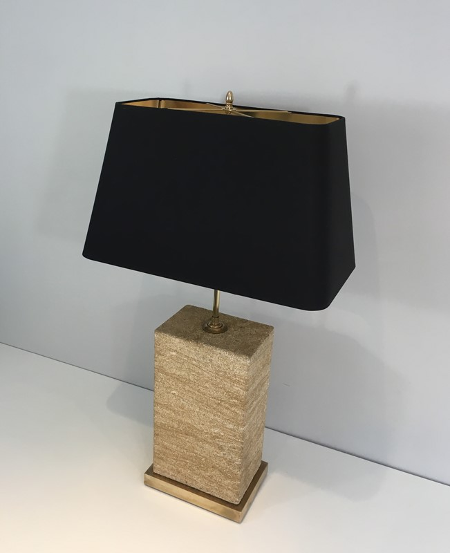 Reconstituted Stone & Brass Adjustable Table Lamp-barrois-antiques-50s-31298-main-636827218174836756.JPG