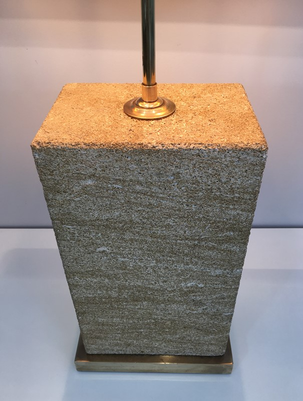 Reconstituted Stone & Brass Adjustable Table Lamp-barrois-antiques-50s-31302-main-636827218458128982.JPG
