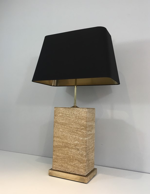 Reconstituted Stone & Brass Adjustable Table Lamp-barrois-antiques-50s-31315-main-636822158510981895.JPG