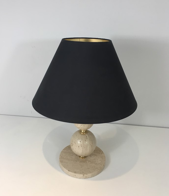 Travertin and Brass table Lamp. Black Shintz Gilt-barrois-antiques-50s-31359-main-636824557620606365.jpg