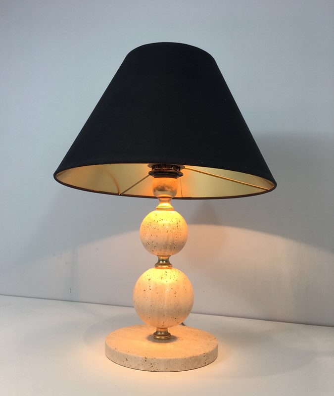 Travertin and Brass table Lamp. Black Shintz Gilt-barrois-antiques-50s-31364-main-636824557737950395.jpg