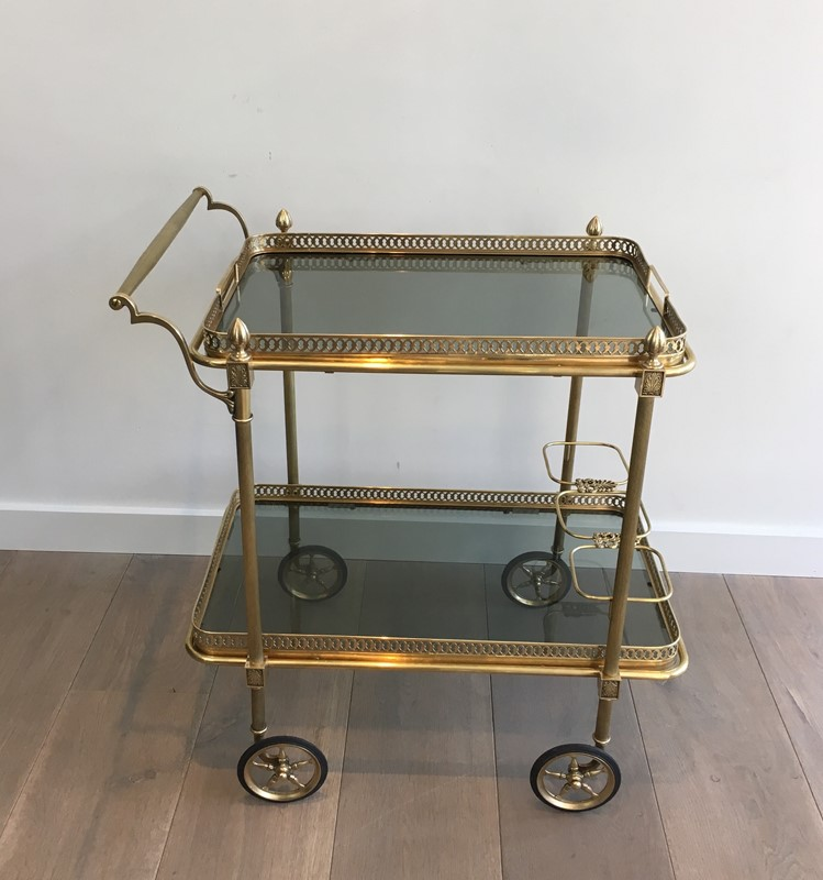 Neoclassical Brass Drinks Trolley with Blueish -barrois-antiques-50s-31390-main-636833450516160597.JPG