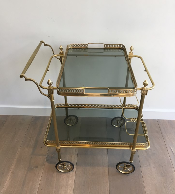 Neoclassical Brass Drinks Trolley with Blueish -barrois-antiques-50s-31393-main-636833452518288783.JPG