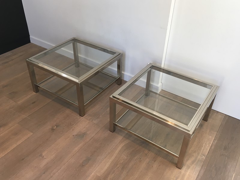 Pair of Important Chrome Side Tables. French. -barrois-antiques-50s-31958-main-636891018599173652.JPG